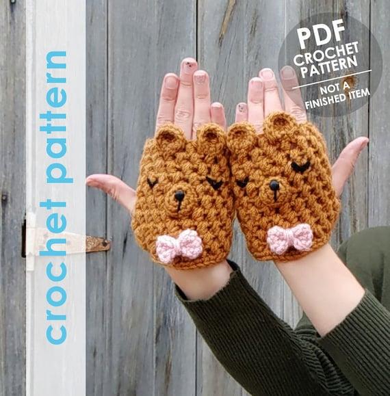 Fingerless Gloves Crochet Pattern Texting Gloves Fingerless Etsy