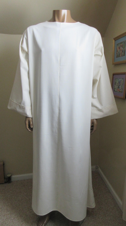 adec497eb0 Ivory linen look monk tunic robe base for monk habit chest etsy jpg  1673x3000 Monk habit