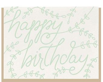 "Letterpress ""Birthday Branches"" Card"