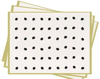 Letterpress 'Pongo' Folded Greeting Cards - Set of 6
