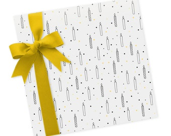 Candles - Wrapping Paper