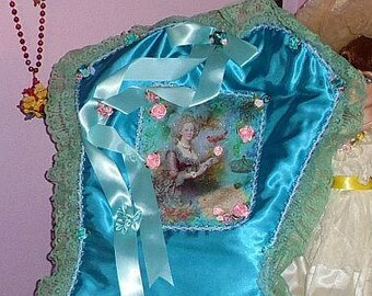 Marie Antoinette Christmas Stocking Wall Hang