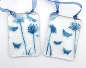 Blue flower butterflies s...