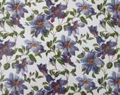 Clematis, purple floral, ...