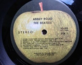 1969 Abbey Road album original vinyl early pressing serial number The Beatles Apple Records SO-383 F-1 West Coast