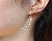 Scala Sterling Silver Ladder Earrings