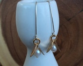 Gold-Filled and Sterling Silver Lily of the Valley Earrings with Freshwater Pearls
