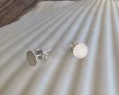 Sterling Silver Dot Stud Earrings