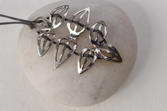 Sterling Silver Cutout Leaf Necklace