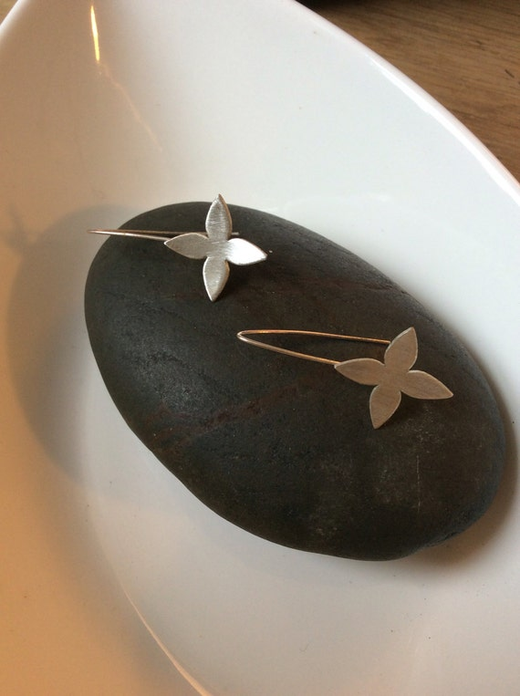 Sterling Silver Dogwood Earrings