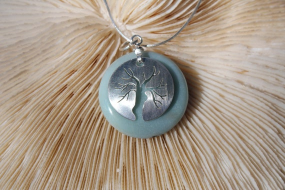 Sterling Silver and Amazonite Goddess Tree Necklace