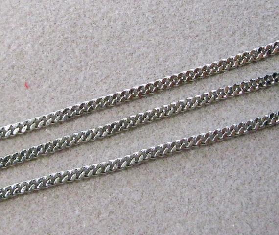 4.5mm x 4mm Gunmetal Flat Curb Chain #CC95