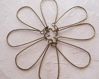 Antique Bronze Long Ear Wires 33mm Nickel Lead Free 701