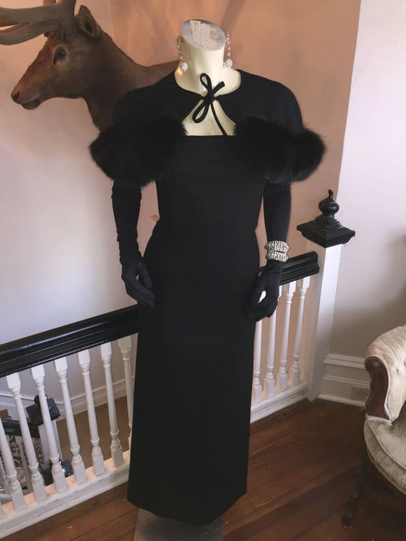 Exquisite soft wool knit wiggle 50s  gown straples