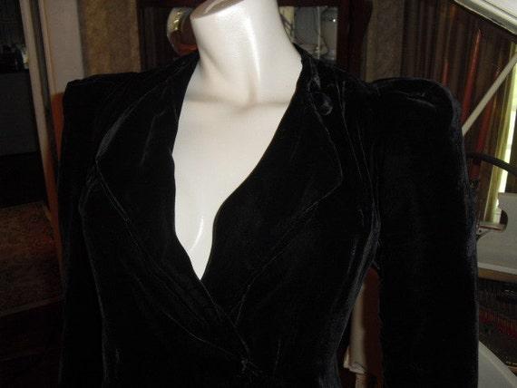 RARE Velvet 40's House Coat Silk lining covered ov