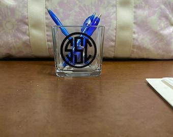 Monogrammed Pen holder