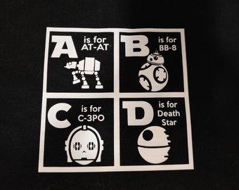 Star Wars ABCs Infant Bodysuit or Toddler T-shirt