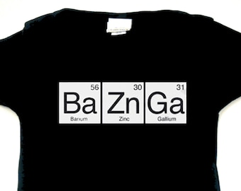 Big Bang Theory - Chemical Elements - Black Infant Bodysuit or Toddler T-shirt