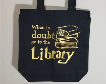 Harry Potter Library Tote Bag