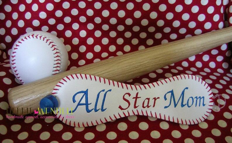 Embroidered Baseball Bracelet All Star Mom Bracelet Mother/'s Day Gift Mom Baseball Bracelet Gift For Mom