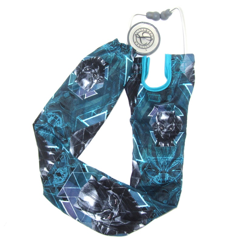 Stethoscope Cover Black Panther Comic Book Character Marvel Movie Medical Doctor Nurse Steth Strap Sleeve Scrubs Nursing Student Gifts