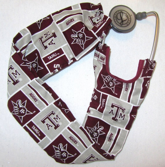 Stethoscope Cover Texas A M Aggies College Football Medical Etsy