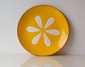 Yellow Lotus CatherineHolm Plate, 1960s, CatherineHolm, Grete Prytz Kittelsen, Danish Modern Enamal Plate, Housewares