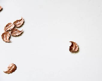 Vintage Findings, Copper Leaves, Vintage Leaf Findings, Copper Leaf Stampings, Jewelry Supplies, Craft Supplies, Leaf Stampings,