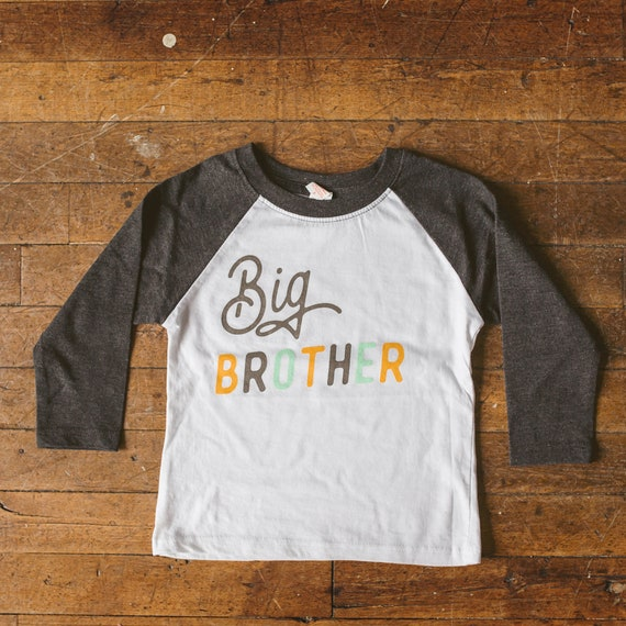 Big Brother Shirt I/'m Going To Be A Big Brother 34 raglan sleeve Boy Sibling Shirt Brother Bear Pregnancy Announcement