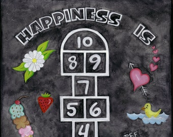 Happiness is Hopscotch Print