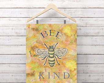 Bee Kind Print
