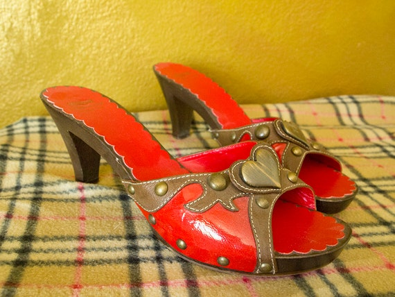 HEARTTHROB // Vintage 90s Moschino Heels Womens 9