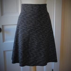 Black Size Small Jersey Knit Skirt