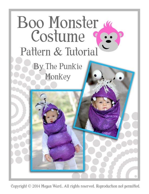 Boo Monster Costume Pdf Pattern Tutorial Monster S Etsy