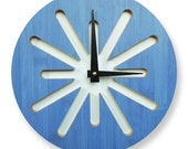 Splat Blue Bamboo Modern Wall Clock