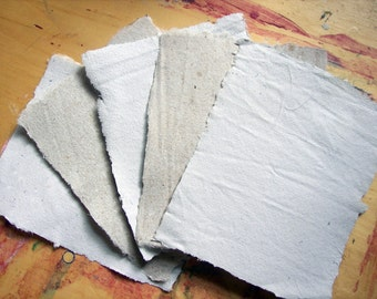 1 small 2x3 inch sample piece of handmade paper recycled paper eco friendly paper