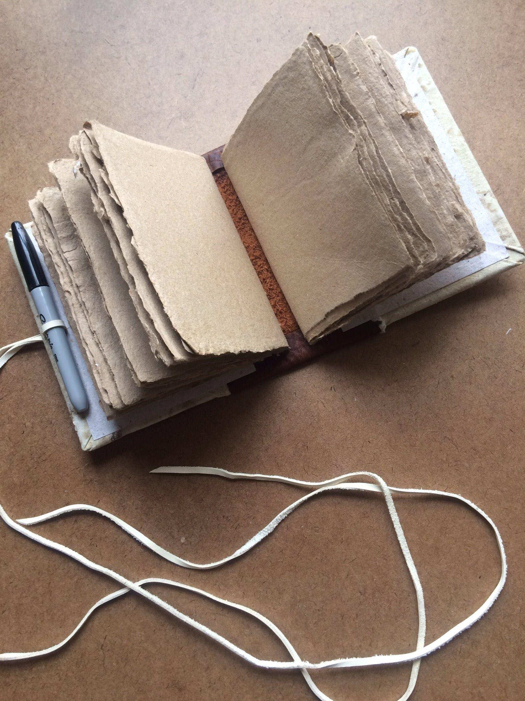 Handmade album, handmade paper, pirate album, sketch book ...