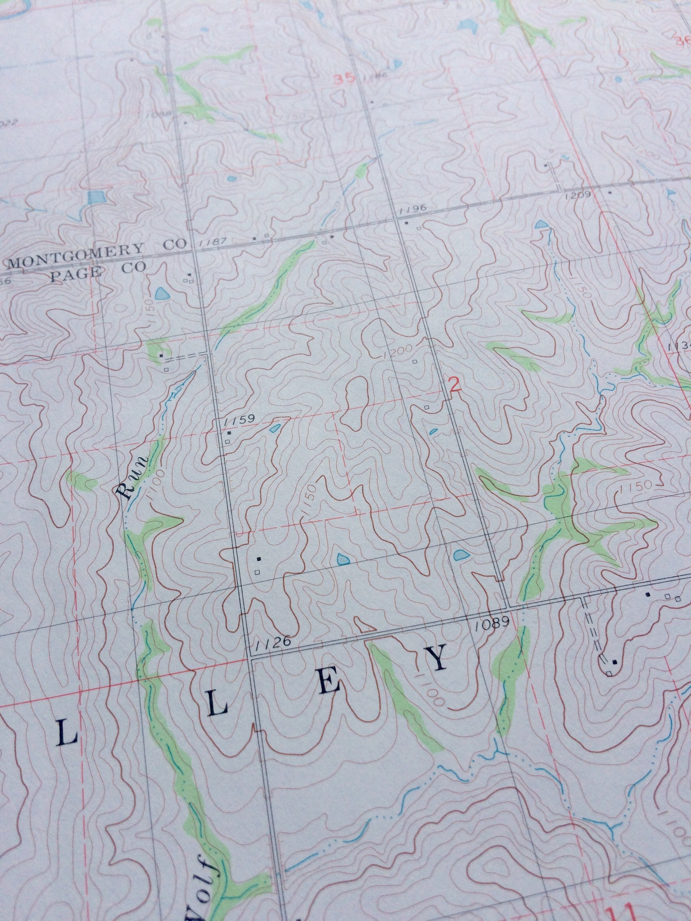 Full Size 22x30 Inch Vintage Topographic Map Vintage Map Geography