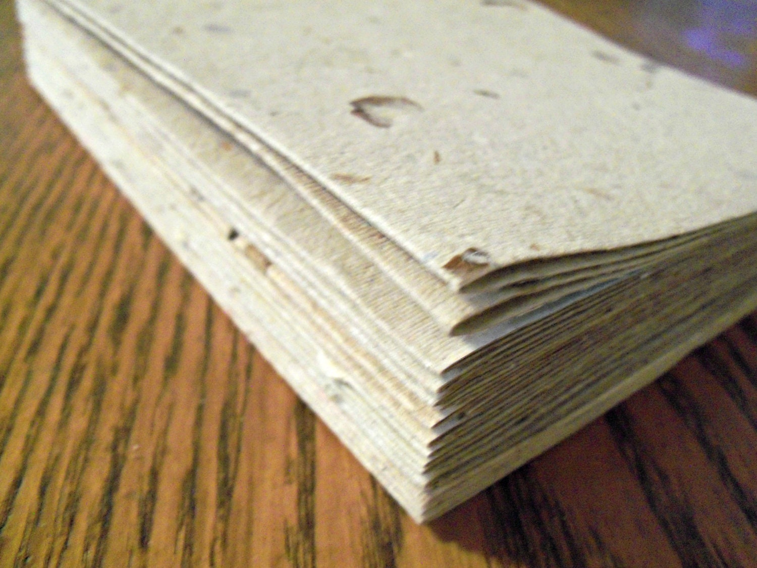 10 Blank Cards Handmade Paper Recycled Paper Eco Friendly Paper