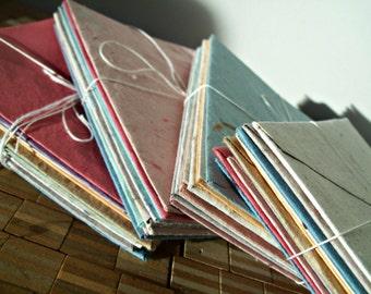 10 assorted envelopes, handmade paper envelope, recycled paper envelope, eco friendly envelope, homemade paper envelope, recycled stationery