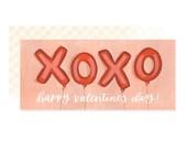 Valentine Balloons // Illustrated Card // 1canoe2