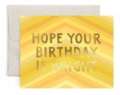 Hope Your Birthday Is Bright // Illustrated Card // 1canoe2