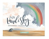 2020 Land & Sky Appointment Calendar // 1canoe2 // Hand illustrated