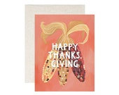 Happy Thanksgiving Corn // Illustrated Card // 1canoe2