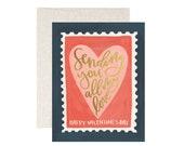 Valentine Stamp // Illustrated Card // 1canoe2