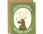 Holiday Wishes and Mistletoe Kisses - Boxed Set of 8 // 1canoe2