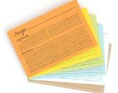 Letterpress Recipe Cards - 21 Pack // 1canoe2