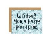 Wishing You a Happy Hanukkah Illustrated Card - Boxed Set of 8 // 1canoe2