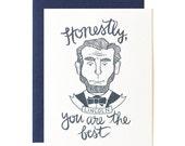 Honest Abe Illustrated Card // 1canoe2
