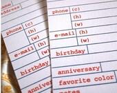 Letterpress Address Cards // 25 additional cards // 1canoe2